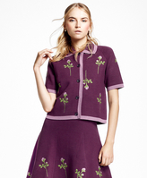 Brooks Brothers Embroidered Floral-Motif Cardigan