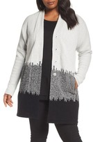 Nic+Zoe Plus Size Women's Blocked Stripes Jacket