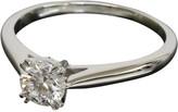 Harry Winston 0.508ct Platinum Diamond Solitaire Ring US Size 6