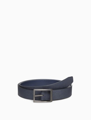 Calvin Klein Saffiano Reversible Swivel Buckle Belt
