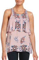 Ella Moss Floral-Print Sleeveless Popover Top