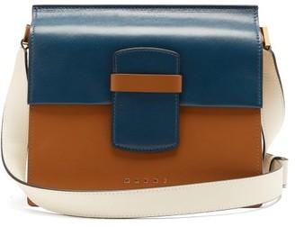 Marni Severine Colour-block Leather Shoulder Bag - Blue Multi