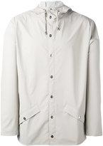 Rains flap pocket hooded jacket - men - Polyester/Polyurethane - XS/S