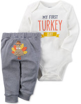 Carter's 2-Pc. First Turkey Day Cotton Bodysuit & Pants Set, Baby Boys (0-24 months)