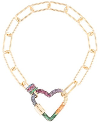 APM Monaco Rainbow Heart Chain Bracelet