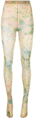 Richard Quinn All-Over Print Sock Leggings