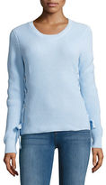 MICHAEL Michael Kors Braided Detail Rib-Knit Top