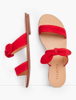 Talbots Hannah Knotted Slides - Suede