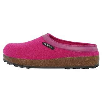 Giesswein Slipper Chamerau BlackBerry 40 - Felt Slippers with Robust Rubber Sole Unisex-House Shoe Shoes for Home & Garden Mules for Ladies & Gentlemen Comfortable Slippers Made of Virgin Wool