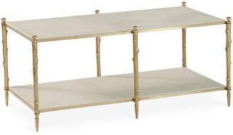 Global Views Arbor Coffee Table - Gold/Ivory