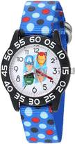 Marvel Boy's 'Captain America' Quartz Plastic and Nylon Automatic Watch, Color: (Model: W003240)