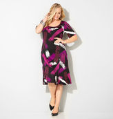 Avenue Wine Brushstroke Mermaid Dress