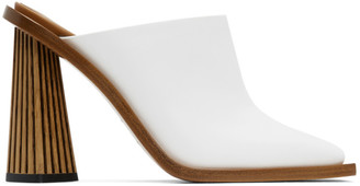 Givenchy White Carved Mule Heels