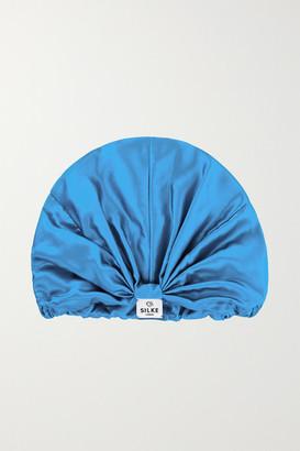 SILKE LONDON Silk Hair Wrap - Sky blue