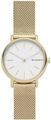Skagen Signature Slim Goldtone Stainless Steel Mesh Watch