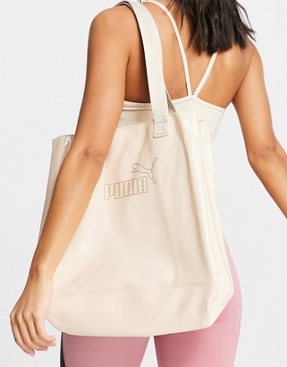 Puma large shopper in cream