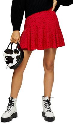 Topshop Mini Heart Flounce Skirt