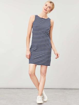 Joules Riva Sleeveless Jersey Print Dress - Navy