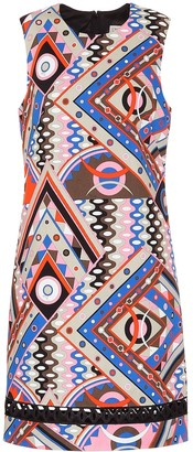 Emilio Pucci Printed stretch-cotton shift dress