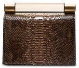Calvin Klein Collection Python Mini Clutch With Resin Bar
