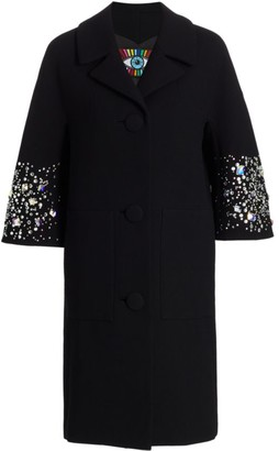 Libertine Stars Collide Patch Pocket Stretch-Wool Coat