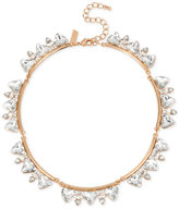 INC International Concepts Rose Gold-Tone Large Crystal Collar Necklace, Only at Macy's