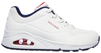 Skechers Uno - Stand On Air 73690 White/Navy/Red Sneaker