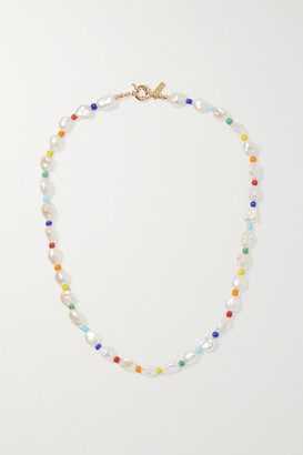 Eliou Gold-tone Pearl And Bead Necklace - one size