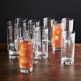 Crate & Barrel Strauss Cooler Glasses, Set of 12