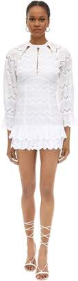 Alice McCall Cotton Eyelet Lace Mini Dress