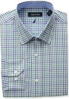Nautica Men's Regular Fit Plaid Dress Shirt