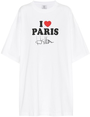 Vetements Oversized printed cotton T-shirt