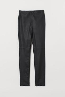 H&M Leather Leggings - Black