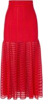 Alexander McQueen Paneled Lace And Open-knit Midi Skirt