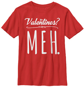 Fifth Sun Boys' Tee Shirts RED - Red 'Valentines? Meh' Tee - Boys