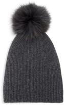 Saks Fifth Avenue Knit Cashmere & Faux Fur Pom-Pom Hat