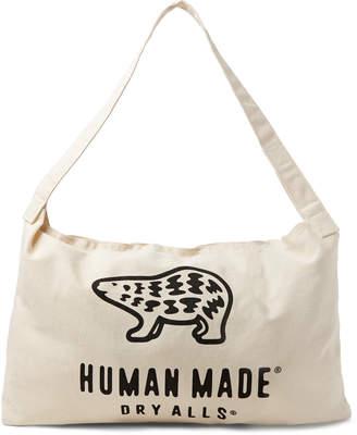 Human Made Logo-Print Cotton-Canvas Tote Bag