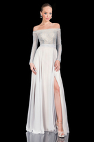 Terani Couture Daring Off-shoulder with Elegant A-line Skirt 1611M0631