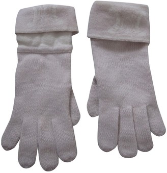 Celine Beige Wool Gloves