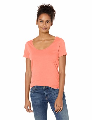 Soffe MJ Junior's Ladies CVC SS Scoop Neck TEE