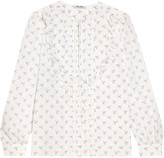 Miu Miu Ruffle-trimmed printed cotton blouse