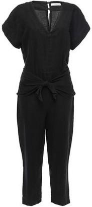 Joie Jaydana Cropped Tie-front Linen Jumpsuit