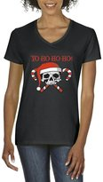 Artix Yo Ho Ho Ho! Skull Candy Women V-Neck T-Shirt Tee Clothes