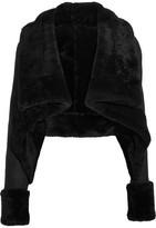 Gareth Pugh Cropped Shearling Jacket - Black