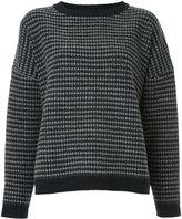 Caramel crew neck knit top