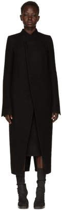 Rick Owens Black Tusk Coat