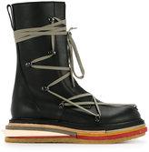 Rick Owens platform lace-up boots