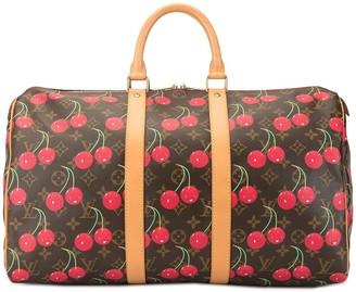 Louis Vuitton x Takashi Murakami 2005 pre-owned Keepall 45 Cherry luggage bag