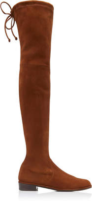 Stuart Weitzman Lowland Over-The-Knee Suede Boots Size: 5