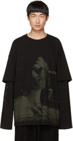 Juun.J Black Layered T-shirt